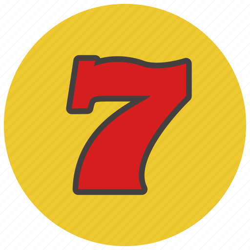 casino, gambling, lucky, seven icon