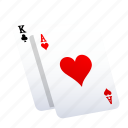 cards, casino, gambling, heart, play, poker, slot icon