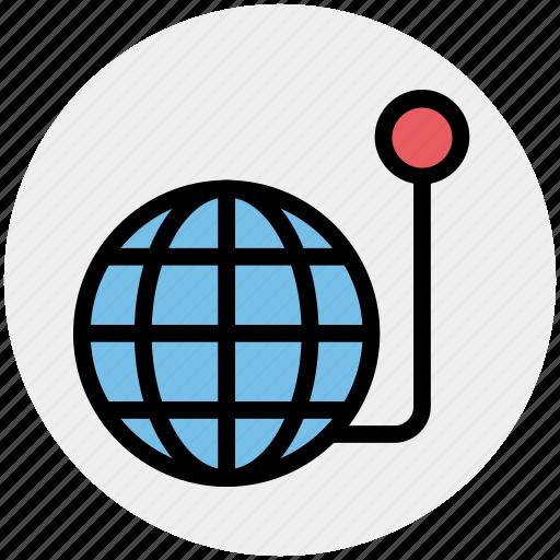 global, globe, lucky, world machine icon