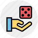 board game, casino, dice, gambling, game, hand icon
