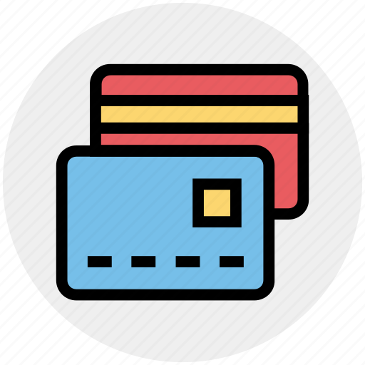 atm cards, credit cards, debit cards, smart cards icon