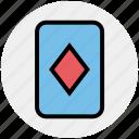 casino card, play card, poker, poker card, poker diamond, poker element, poker symbol icon
