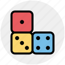 board game, casino, dices, gambling, game icon
