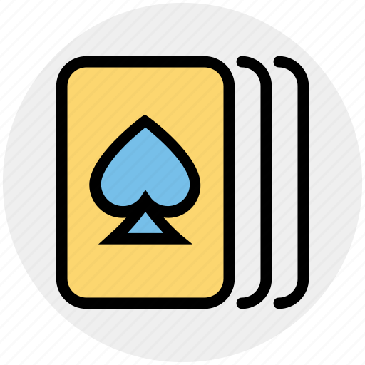 cards, casino, gambler, gambling, game, hearts, three cards icon