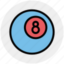billiard, casino, club, gamble, gambling, game, play icon