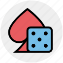 ace, board game, casino, dice, gambling, game, poker icon