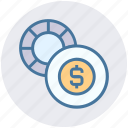 casino, change, dollar sign, gambling, game, house icon