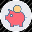 bank, coins, money bank, piggy, piggy bank, saving icon