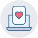 heart, heart poker, laptop, online casino, online gambling, online game icon