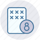 card, casino, gambling, game, lottery, scratch icon