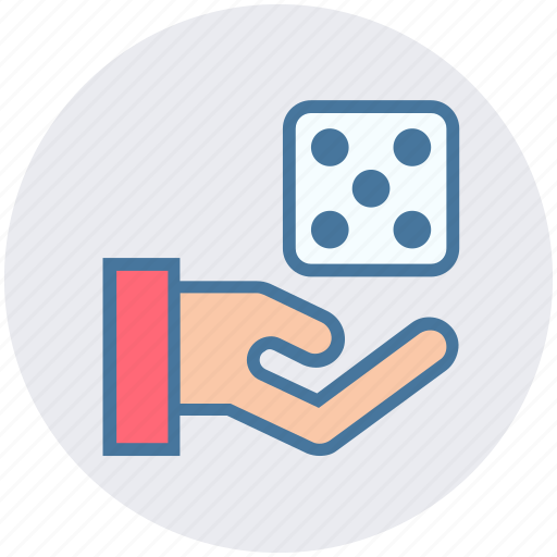 Board game, casino, dice, gambling, game, hand icon - Download on Iconfinder
