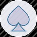 ace poker, card sign, poker, poker element, poker symbol, spade icon