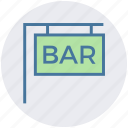 bar, food and drink, law, media and entertainment, science and computing icon