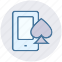 ace, gambling, mobile, online casino, online game, poker icon