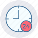 all time open, clock, customers, service, support, time icon