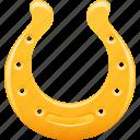 gambling, golden, horse shoe, horseshoe, luck icon