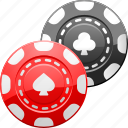 bet, betting, casino, chips, gambling, poker chips, token icon
