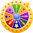 bet, betting, casino, gambling, wheel of fortune icon