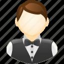 casino, casino dealer, croupier, dealer, gambling, waiter icon