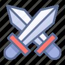 duel, swords, tournament icon