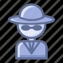 detective, rascal, swindler icon