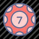 chip, gamble, seven icon