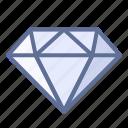 diamond, gemstone, jewel icon