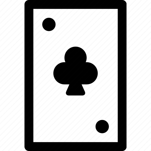 card, casino, clubs, gambling, poker, suit icon