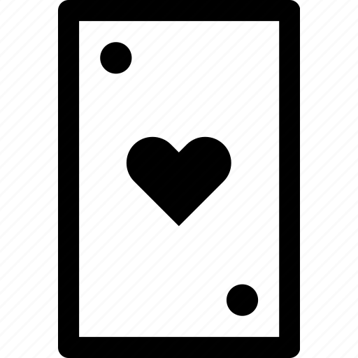 card, casino, gamble, heart, poker icon
