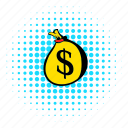 bag, comics, currency, dollar, full, money, sack icon