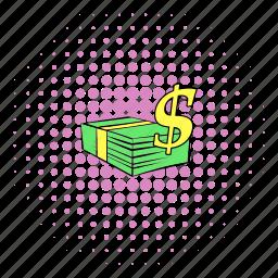 comics, finance, money, rich, saving, success, wealth icon