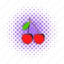 berry, cherry, comics, food, fruit, ripe, sweet icon
