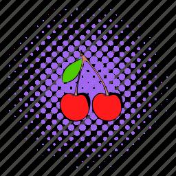 berry, cherry, comics, food, fruit, ripe, sweet icon