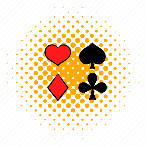 card, casino, comics, game, poker, red, spade icon