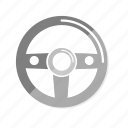 car, helm, rudder icon
