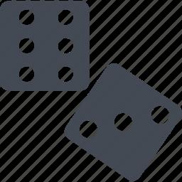 bricks, dice, game, ivories icon