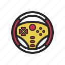 controller, game, gamepad, gamer, play, steering, wheel icon