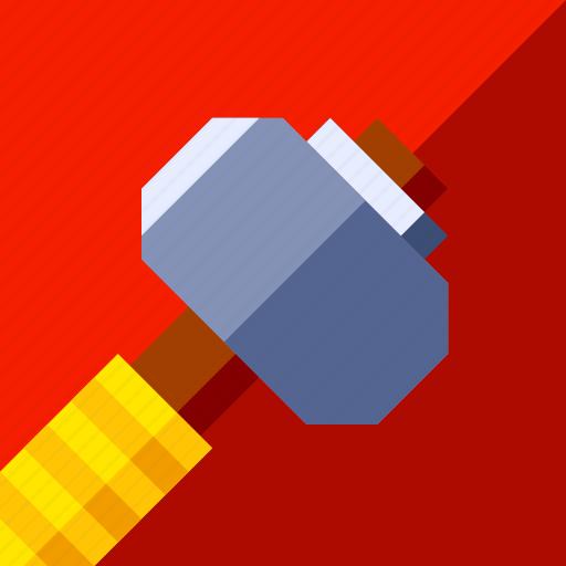 game, hammer, soldier, war, weapon icon