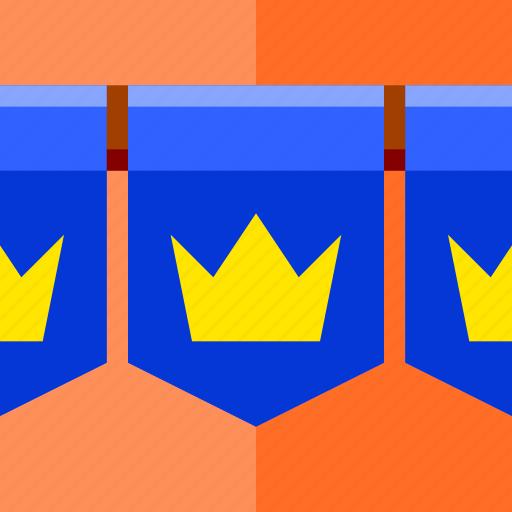 bagde, flag, game, identity icon