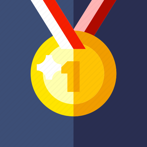 champion, game, gold, medal icon