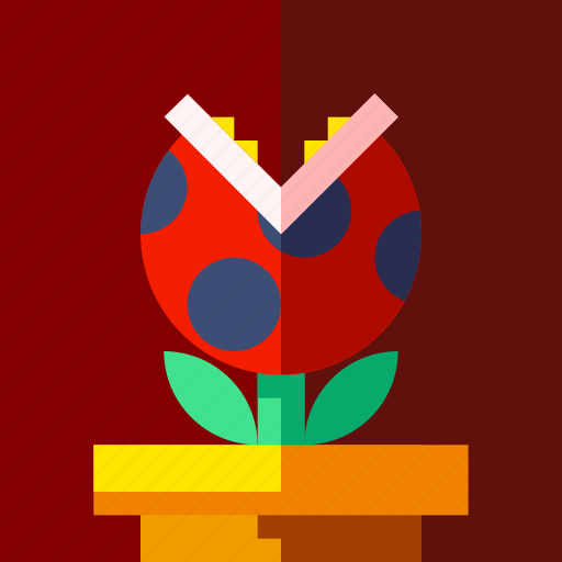 game, monster, plant icon