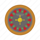 casino, gambling, gaming, leisure, roulette icon