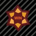 gambling, gaming, mark, square, win icon