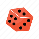 dice, four, gambling, gaming, three, two icon