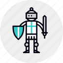 armor, character, chivalry, crusader, hero, knight, paladin icon