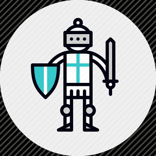 armor, character, chivalry, crusader, hero, knight, paladin icon
