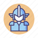 armor, character, knight, warrior icon