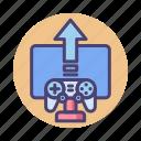 game, game development, game publishing, game sharing, publishing icon