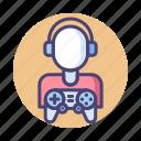 gamer, gaming, video game, video gamer icon
