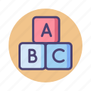 abc, alphabet, blocks, kids, toy